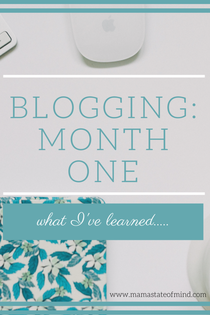 Blogging: Month One. What I've Learned.....