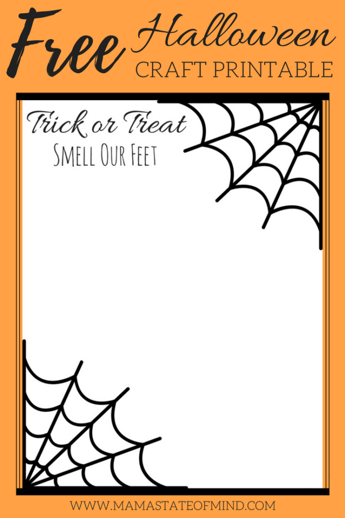 Free Kid's Halloween Craft Printable - Mama State of Mind