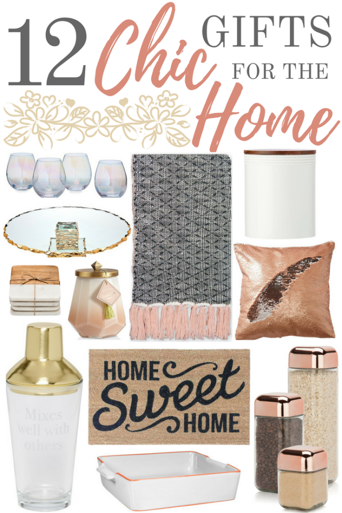 Home related items probably aren't the first thing that comes to mind when you think of gifts. But so many people would love receiving a gift that is both beautiful and functional, so don't rule them out! Here are 12 amazingly chic gifts for the home that are sure to wow anyone; from your mom, to your sister, to your best girl friend! And they're all under $50!